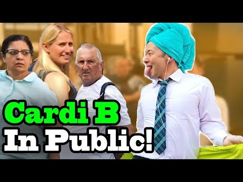"Cardi B, Bad Bunny, J Balvin - ""I Like It"" - SINGING IN PUBLIC!!"