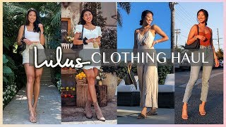 LULUS TRY ON CLOTHING HAUL - SUMMER & FALL LOOKS | Christine Le