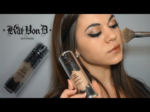 First Impression/DEMO: Kat Von D Lock It Tattoo Foundation! - UC7tzuDIXGOxyTxfkEvZ5C_w