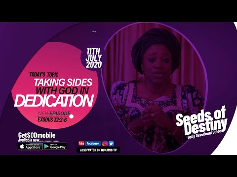 Dr Becky Paul-Enenche - SEEDS OF DESTINY - SATURDAY JULY 11, 2020