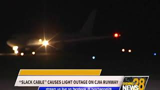 """""""SLACK CABLE"""" CAUSES LIGHT OUTAGE ON CJIA RUNWAY"""
