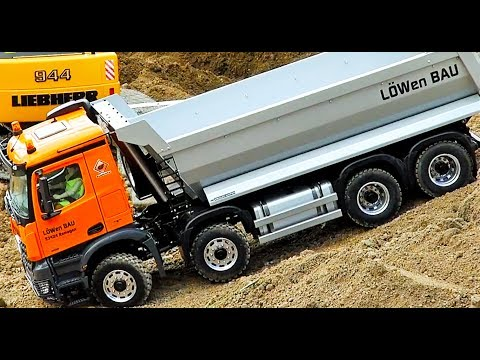 Fantastic Rc Tractor Truck Excavator Tipper Semi And More On The  Construction Site