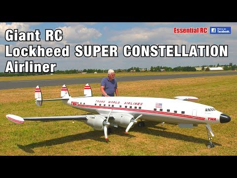 GIANT 1:6 scale Radio Controlled (RC) Lockheed SUPER CONSTELLATION TWA 'Star of America' AIRLINER - UChL7uuTTz_qcgDmeVg-dxiQ