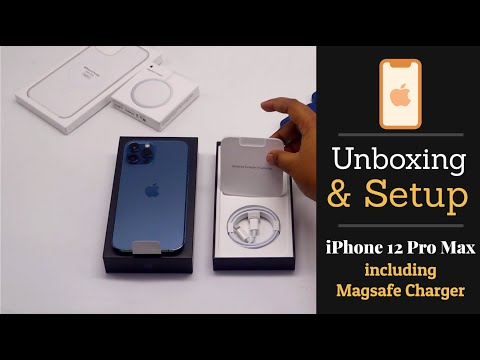 iPhone 12 Pro Max Unboxing & Setup (Including MagSafe Charger)