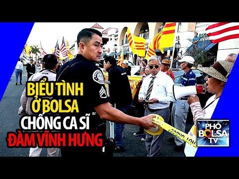 Biểu tình náo động ở Bolsa chống show có ca sĩ Đàm Vĩnh Hưng