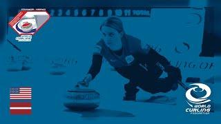 United States v Latvia - round robin - World Mixed Doubles Curling Championship 2019