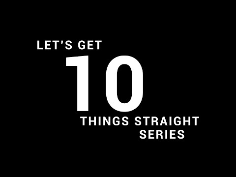 Let's Get 10 Things Straight - Did You Buy It? - Dr. Ronnie Goines