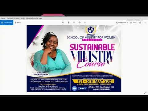 WOMEN IN MINISTRY WEEKLY PROGRAM 29/04/21
