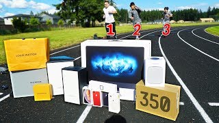Fastest Runner Wins EXPENSIVE Prize - Challenge