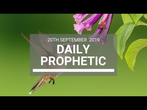 Daily Prophetic 20 September 2019   Word 6
