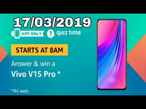 Amazon quiz answer today and win Vivo v15 pro | 17 March 2019