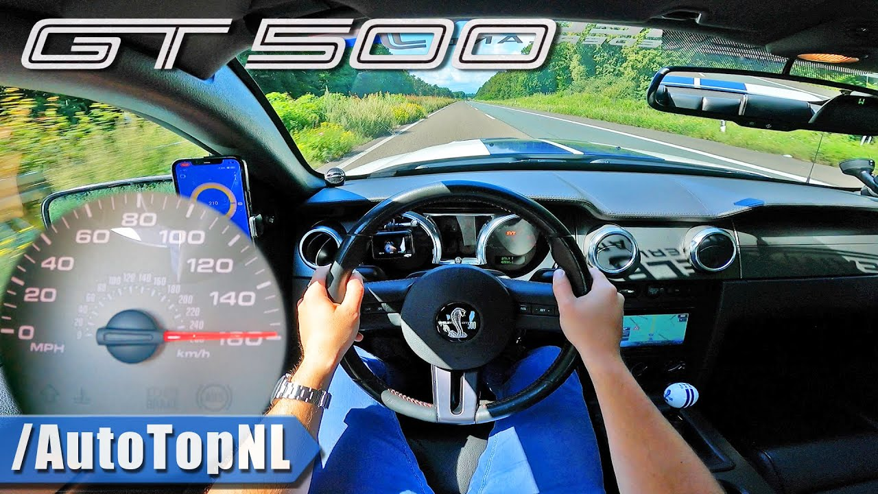 2007 SHELBY GT500 | TOP SPEED on AUTOBAHN [NO SPEED LIMIT] by AutoTopNL