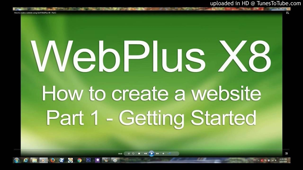 How to create a website using Serif WebPlus X8 - Part 1