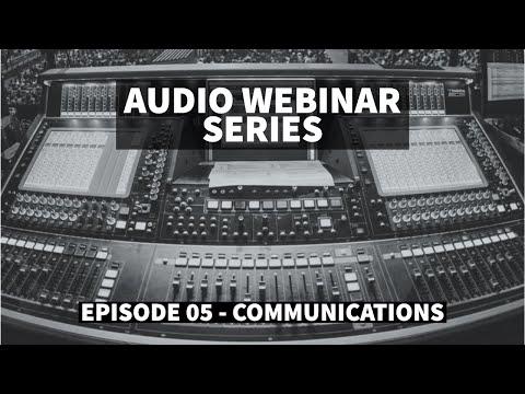 Communications ft Ricki Cook & Chris Johnson (Riedel Communications) - Audio Webinar #5