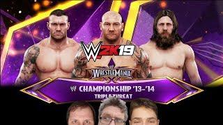WWE 2k19 | Classic Match | Randy Orton vs Batisita vs Daniel Bryan | Triple Threat WrestlemaniaXXX