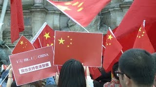 Chinese Rally in Paris Against Violent Acts in Hong Kong