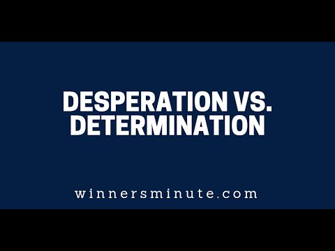 Desperation vs. Determination  The Winner's Minute With Mac Hammond