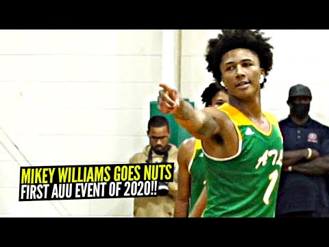 Mikey Williams FIRST AAU Event of 2020 Was a WILD SHOW!!