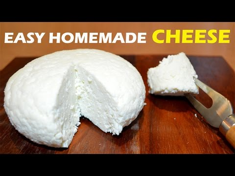 How to Make Cheese at Home - 2 ingredient Easy Cheese Recipe - UCJUkWY6KdxHWEeQhwrBlX_Q