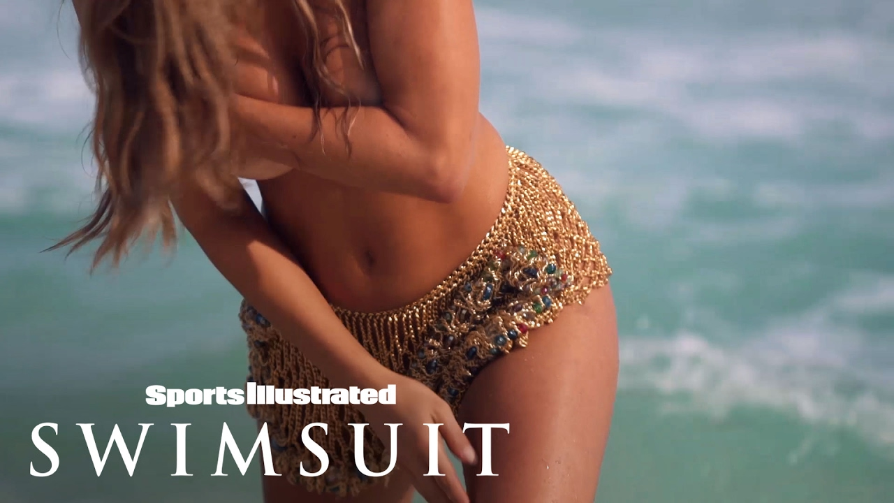 Hannah Jeter Feels Her Jeweled Metal Shorts 'In All The Wrong Places'   Sports Illustrated Swimsuit