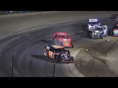 I.M.C.A B-Feature #2 at Crystal Motor Speedway, Michigan on 09-18-2021!! - dirt track racing video image