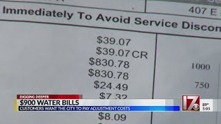Customers want city to pay excessive water bills