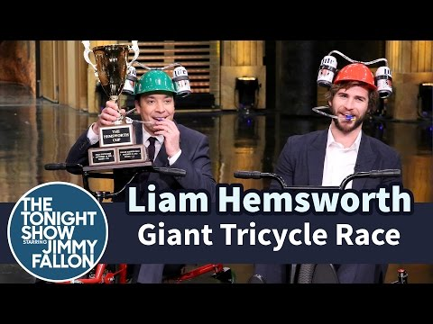 Giant Tricycle Race at The Tonight Show Starring Jimmy Fallon