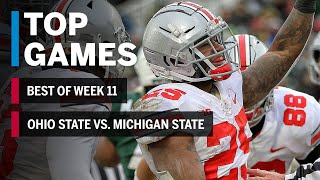 Top Games of 2018: Week 11 | Ohio State Buckeyes vs. Michigan State Spartans | B1G Football