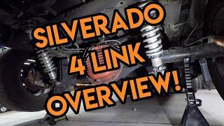 Silverado Custom 4 Link Suspension Overview! Custom Drag Suspension on a RCSB Truck!