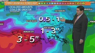 New Orleans Weather: Tropical wave brings increased rain chance