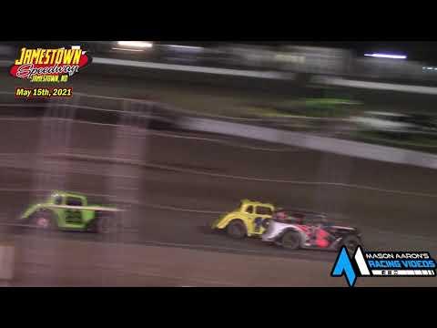 Jamestown Speedway INEX Legends A-Main (5/15/21) - dirt track racing video image