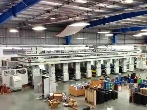 8 colors rotogravure printing machine