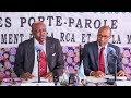 Conférence de presse conjointe Gouvernement – Minusca