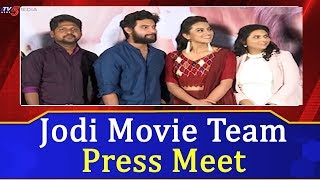 Jodi Movie Team Press Meet | Aadi | Shraddha Srinath | TV5 News