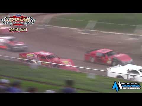 Cedar Lake Speedway Pro Stock A-Main (7/31/21) - dirt track racing video image