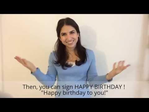 Happy Birthday In Sign Language My Way Impresspageslt