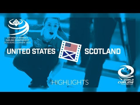 HIGHLIGHTS: United States v Scotland - round robin - LGT World Women's Curling Championship 2019