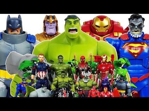 Hulk & Hulkbuster  vs Thanos! Avengers Go~! Spider-Man, Iron Man, Captain America, Superman, Batman, - UCiRw9xGyL2b6lYfWR1ASIaA