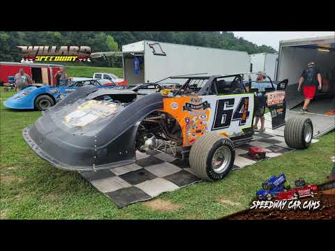 Winner #64 AJ Hicks - Crate Late Model - 8-7-21 Willard Speedway - In-Car Camera - dirt track racing video image