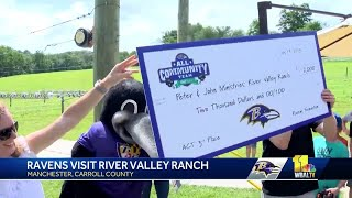 Ravens donate $2,000 to River Valley Ranch summer camp