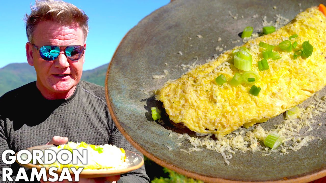 I Make a Great Smoky Mountain Cheesy Crayfish Omelette   Gordon Ramsay
