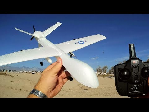 XK A110 MQ-9 Predator Reaper Drone Three Channel Stabilized RC Airplane Flight Test Review - UC90A4JdsSoFm1Okfu0DHTuQ