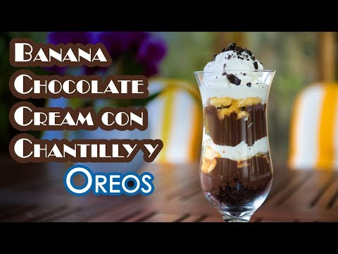 Banana Chocolate Cream con Chantilly y Oreos Postre en 10 Minutos - UCQpwDEZenMK6rzhLqCZXRhw