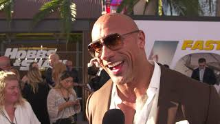 Dwayne Johnson at Fast and Furious Present: Hobbs and Shaw World Premiere