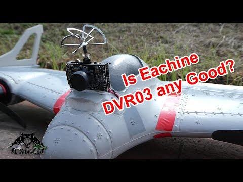 Testing Eachine DVR 03 with Eachine E500 VTOL FPV Wing - UCsFctXdFnbeoKpLefdEloEQ