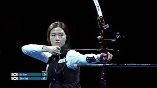 Sim Yeji shoots 12 10s and perfect archery match