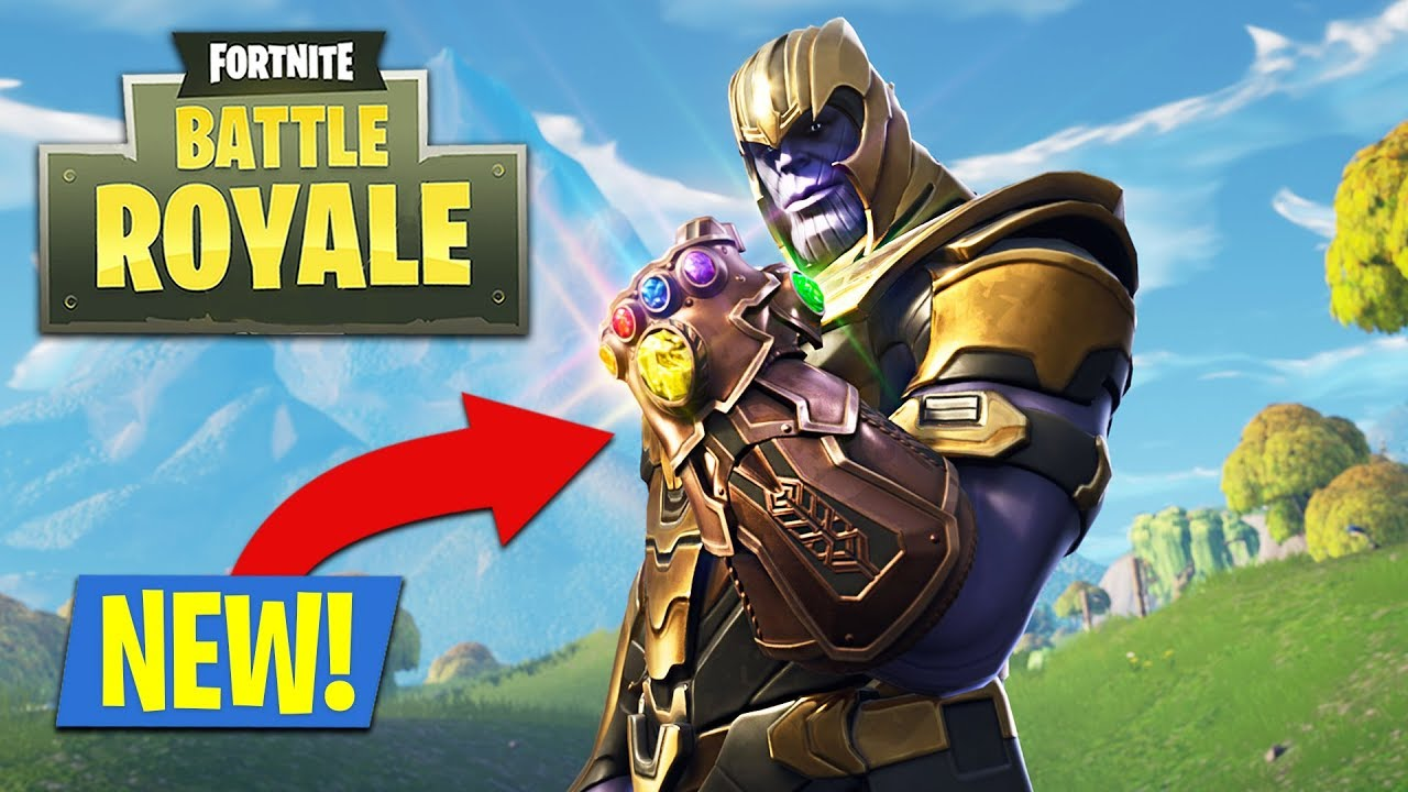 New Fortnite Update Infinity Gauntlet Play As Thanos Fortnite