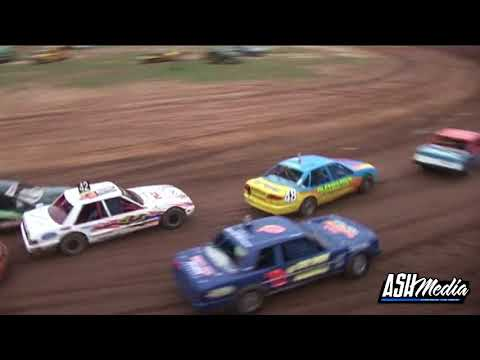 Modified Production: Collins and Pricey Awesome Heat Battle - Maryborough Speedway - dirt track racing video image