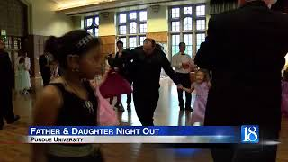 Fathers and daughters have a night out at Purdue University