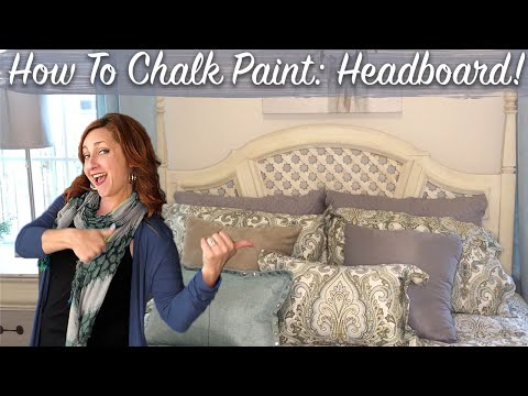 TRASH TO TREASURE! Headboard Makeover with CHALK PAINT | DIY Distressed Finish For Beginners